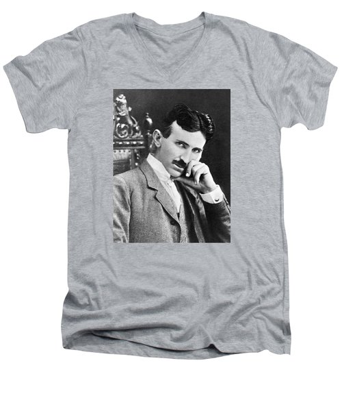 Nikola Tesla Men's V-Neck T-Shirt