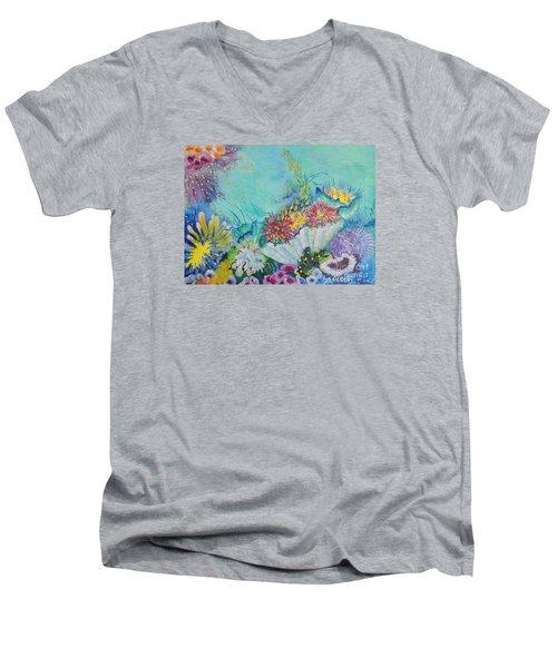 Ningaloo Reef Men's V-Neck T-Shirt by Lyn Olsen
