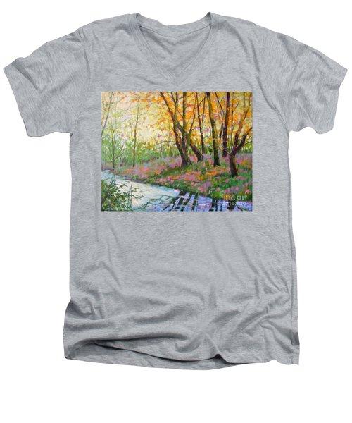 Nisqually Morning Men's V-Neck T-Shirt