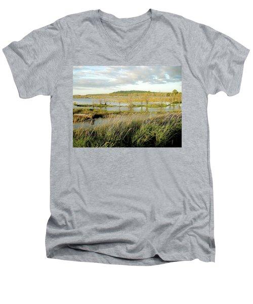 Nisqually Tide Coming In Men's V-Neck T-Shirt