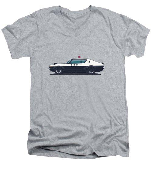 Nissan Skyline Gt-r C110 Japan Police Car Men's V-Neck T-Shirt