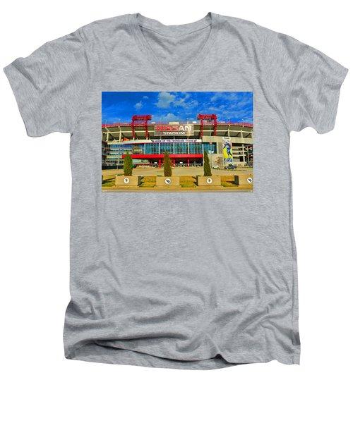 Nissan Stadium Home Of The Tennessee Titans Men's V-Neck T-Shirt