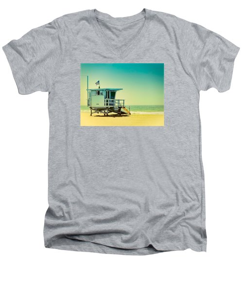 Men's V-Neck T-Shirt featuring the photograph No 16 - Wish You Were Here by Douglas MooreZart