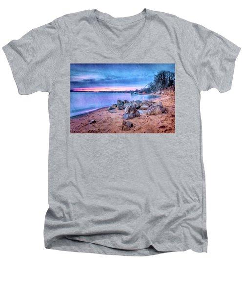 No Escape Men's V-Neck T-Shirt by Edward Kreis