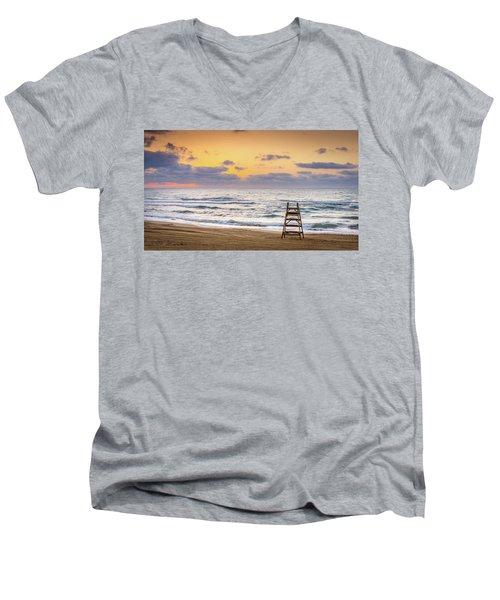 No Lifeguard On Duty. Men's V-Neck T-Shirt