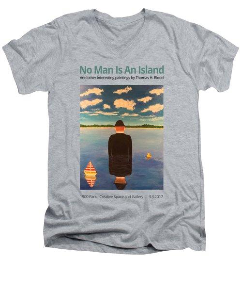 No Man Is An Island T-shirt Men's V-Neck T-Shirt