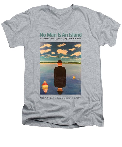 No Man Is An Island T-shirt Men's V-Neck T-Shirt