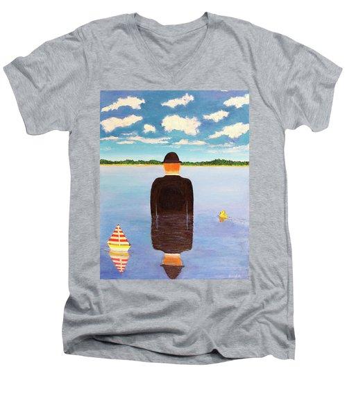 No Man Is An Island Men's V-Neck T-Shirt