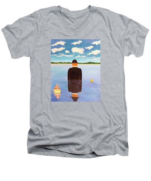 No Man Is An Island Men's V-Neck T-Shirt