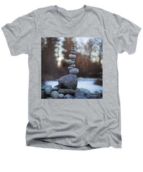 Zen Stack #3 Men's V-Neck T-Shirt