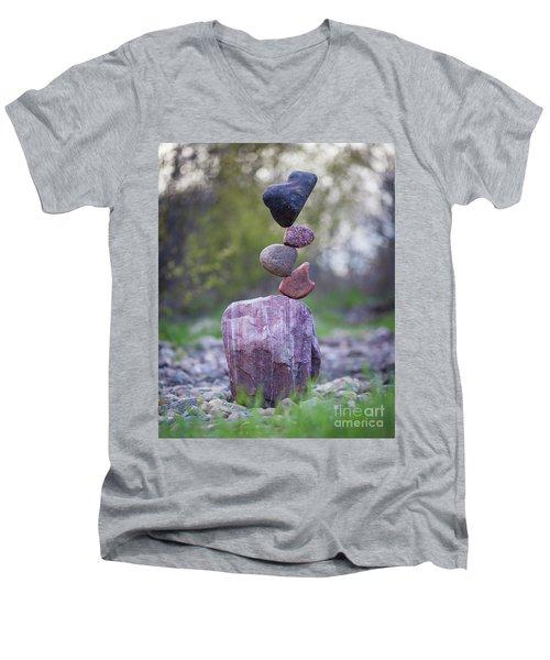 Zen Stack #4 Men's V-Neck T-Shirt