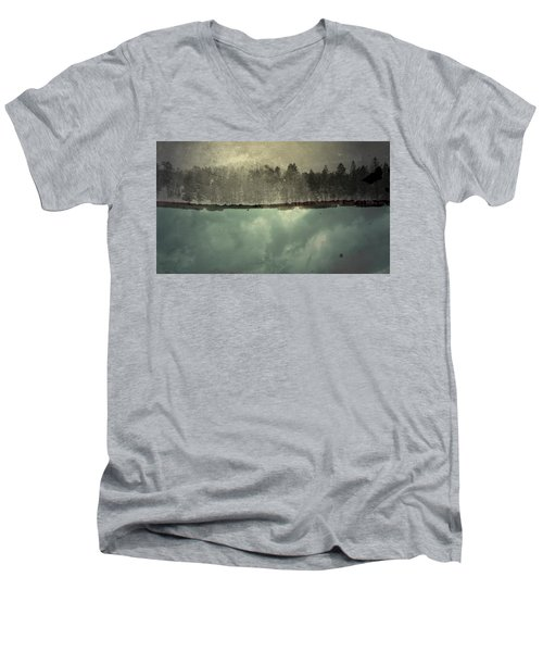 Men's V-Neck T-Shirt featuring the photograph No One Ever Leaves  by Mark Ross