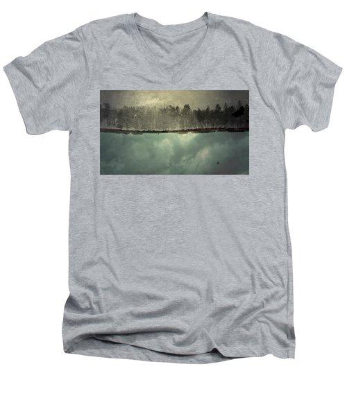 No One Ever Leaves  Men's V-Neck T-Shirt by Mark Ross