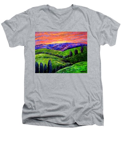 No Place Like The Hills Of Tennessee Men's V-Neck T-Shirt by Kimberlee Baxter