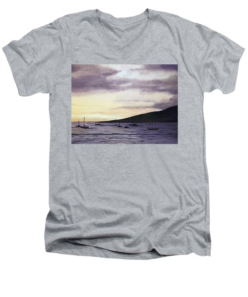 No Safer Harbor Lahaina Hawaii Men's V-Neck T-Shirt