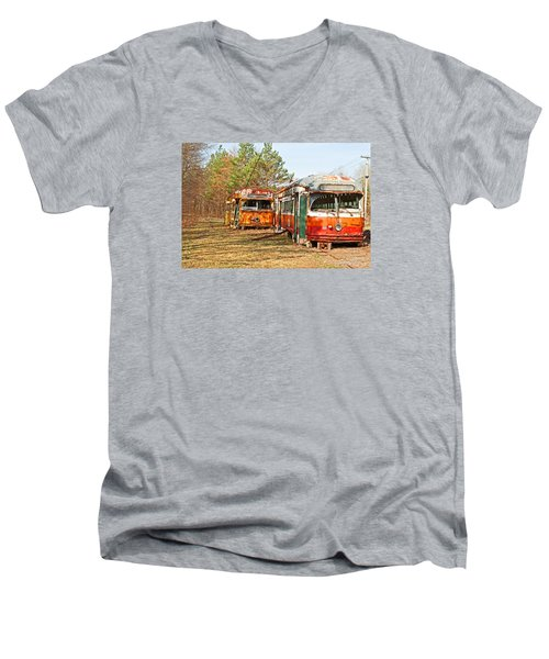 No Stops Men's V-Neck T-Shirt by Michael Porchik