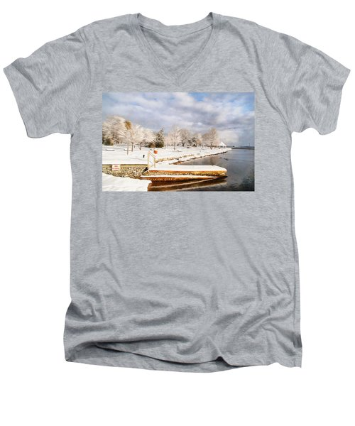 No Swimming Men's V-Neck T-Shirt