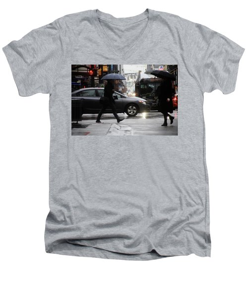 No Trees Sneeze  Men's V-Neck T-Shirt by Empty Wall