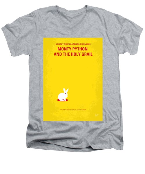 No036 My Monty Python And The Holy Grail Minimal Movie Poster Men's V-Neck T-Shirt