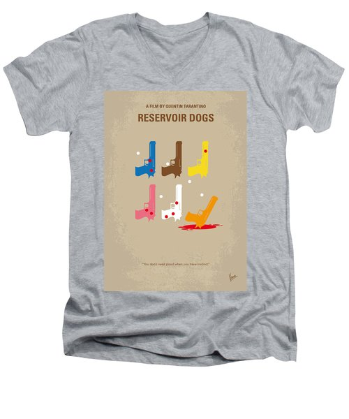 No069 My Reservoir Dogs Minimal Movie Poster Men's V-Neck T-Shirt