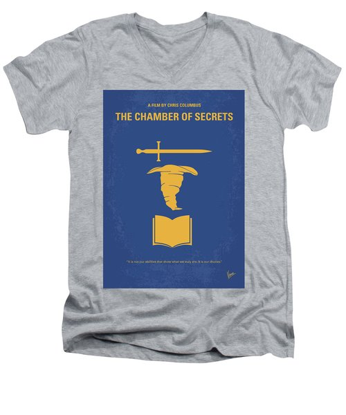 No101-2 My Hp - Chamber Of Secrets Minimal Movie Poster Men's V-Neck T-Shirt