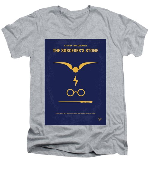 No101 My Harry Potter Minimal Movie Poster Men's V-Neck T-Shirt by Chungkong Art
