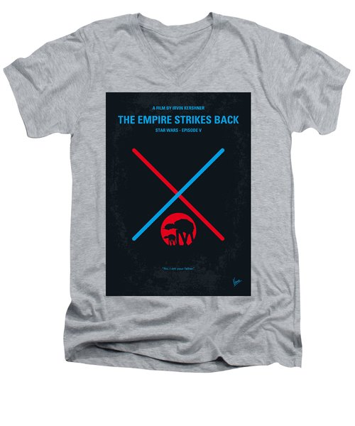 No155 My Star Wars Episode V The Empire Strikes Back Minimal Movie Poster Men's V-Neck T-Shirt