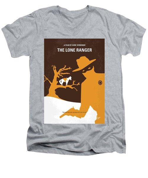 No202 My The Lone Ranger Minimal Movie Poster Men's V-Neck T-Shirt by Chungkong Art