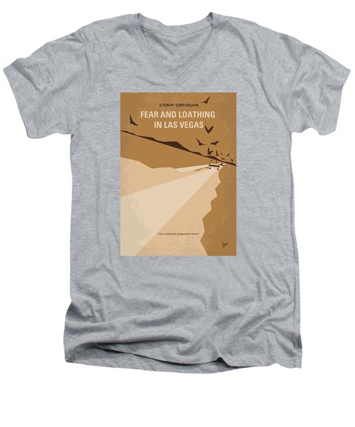 No293 My Fear And Loathing Las Vegas Minimal Movie Poster Men's V-Neck T-Shirt by Chungkong Art