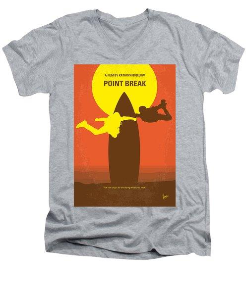 No455 My Point Break Minimal Movie Poster Men's V-Neck T-Shirt