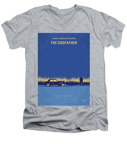 No686-1 My Godfather I Minimal Movie Poster Men's V-Neck T-Shirt