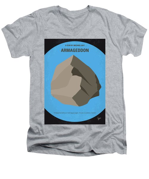No695 My Armageddon Minimal Movie Poster Men's V-Neck T-Shirt