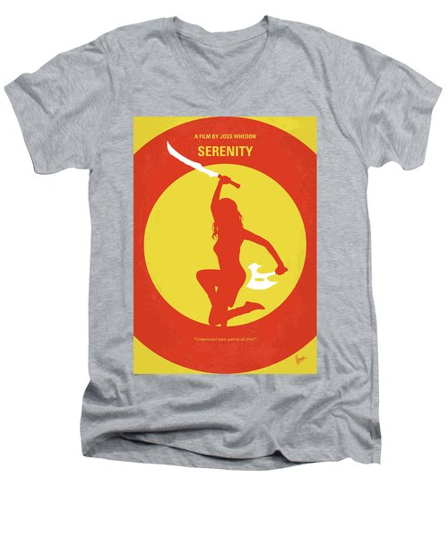 No722 My Serenity Minimal Movie Poster Men's V-Neck T-Shirt