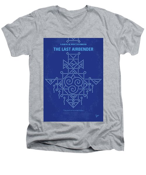 Men's V-Neck T-Shirt featuring the digital art No764 My The Last Airbender Minimal Movie Poster by Chungkong Art