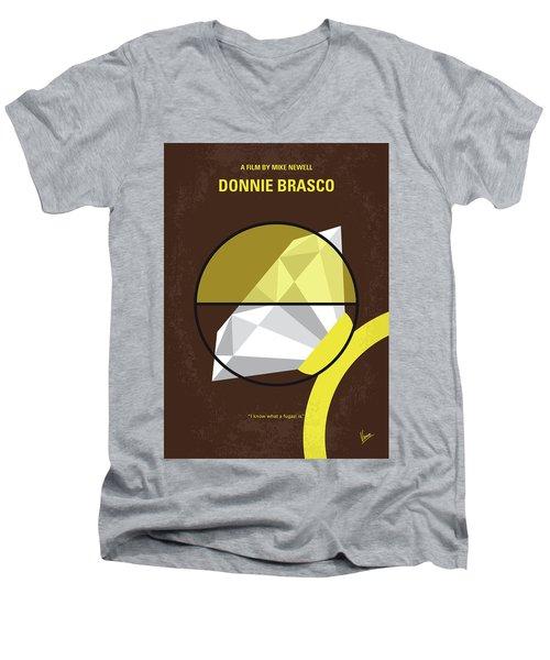 No766 My Donnie Brasco Minimal Movie Poster Men's V-Neck T-Shirt by Chungkong Art