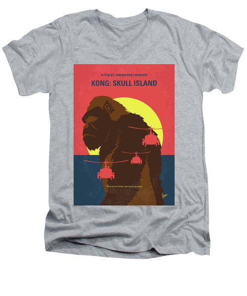 No799 My Skull Island Minimal Movie Poster Men's V-Neck T-Shirt