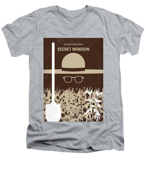 No830 My Secret Window Minimal Movie Poster Men's V-Neck T-Shirt