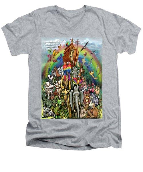 Noah's Ark Men's V-Neck T-Shirt by Kevin Middleton