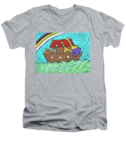 Noahs Ark Two Men's V-Neck T-Shirt