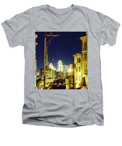 Nob Hill Electric Men's V-Neck T-Shirt