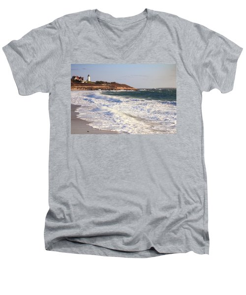 Nobska Point Seascape Men's V-Neck T-Shirt
