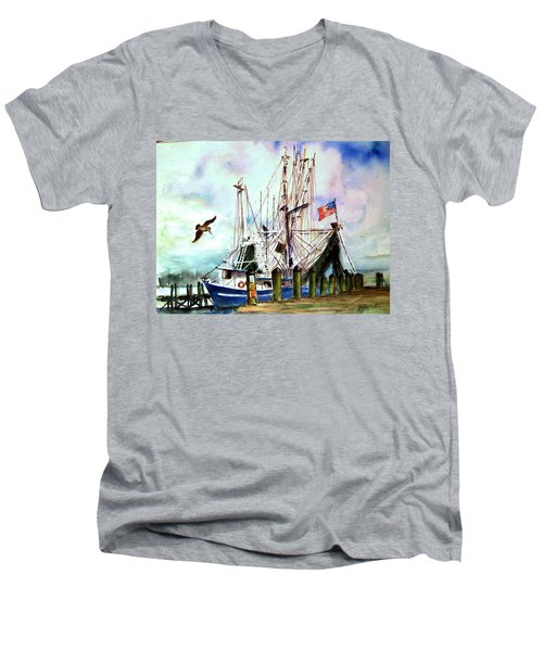 Nocho Boat Men's V-Neck T-Shirt