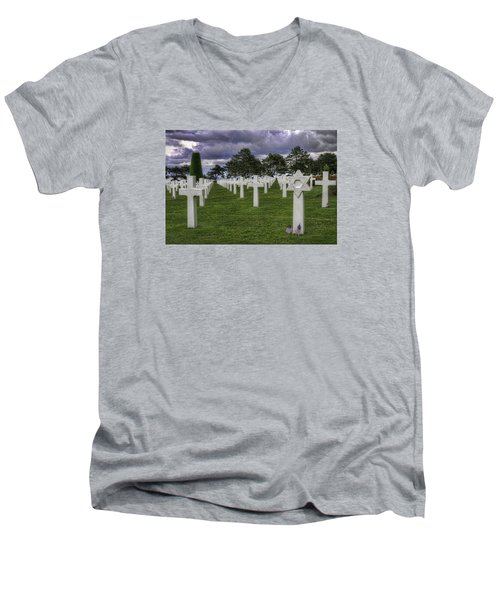 Normandy American Cemetery Men's V-Neck T-Shirt