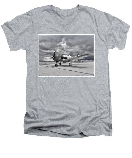 North American T-28 Men's V-Neck T-Shirt
