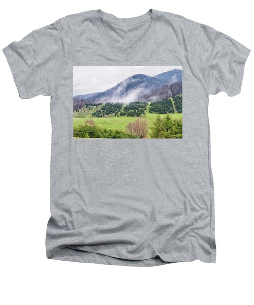 North Carolina Christmas Tree Farm Men's V-Neck T-Shirt