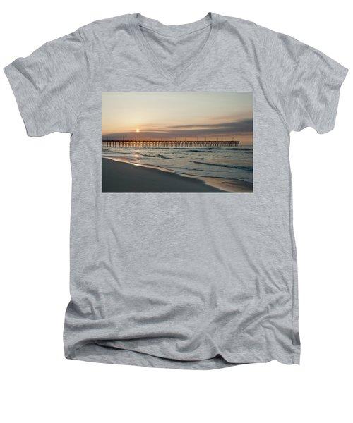 North Carolina Sunrise Men's V-Neck T-Shirt