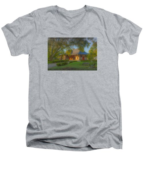 North Easton Train Station Men's V-Neck T-Shirt