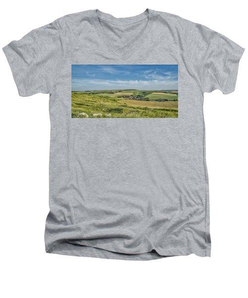 North French Scenery Men's V-Neck T-Shirt