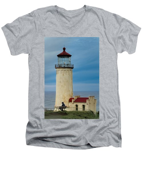 North Head Lighthouse Men's V-Neck T-Shirt