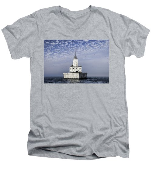 North Manitou Shoal Light Men's V-Neck T-Shirt